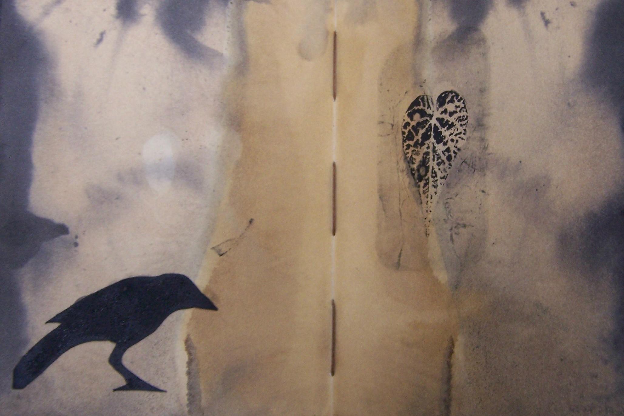 Paducah sketchbook crow print page