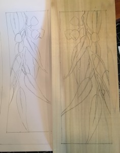 Eucalypt original drawing and board