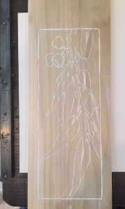 Eucalypt with powder on board