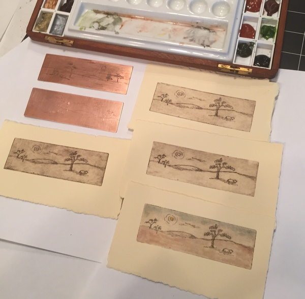 Australia Outback copper plates and prints