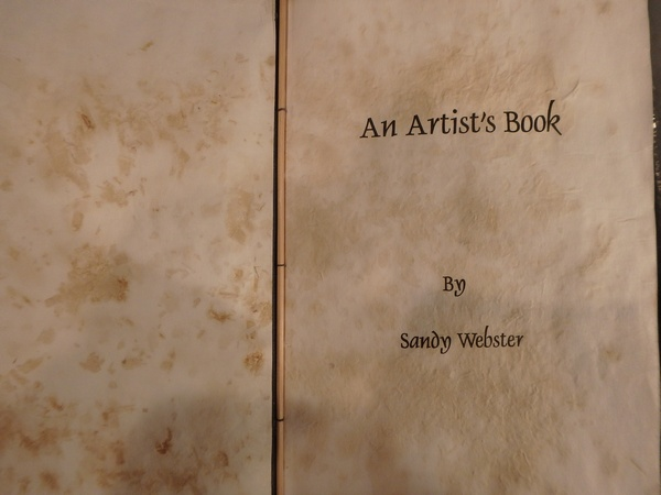 An Artist Book title page