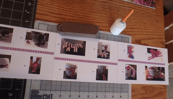 Pages being glued