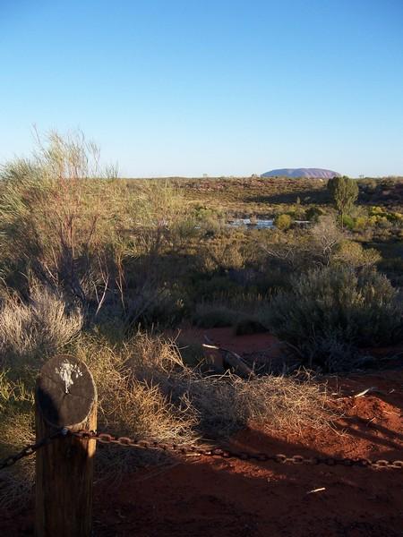 Uluru and fence