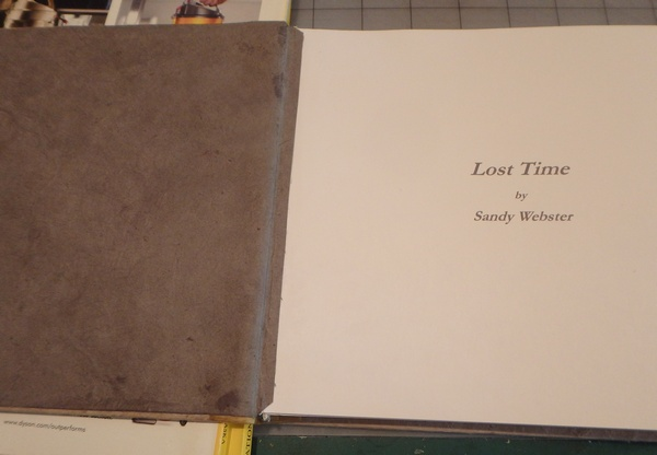 lost time pasting in end papers