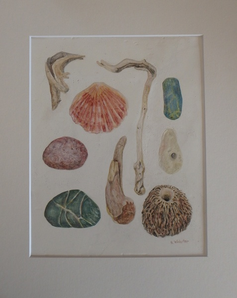 gessoed-board-with-watercolors-sticks-and-stones